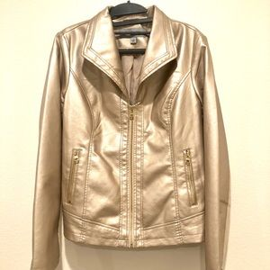 NEW! MARC by Marc Jacobs ROSE GOLD Leather Jacket